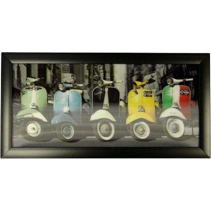 Iconic 3D Picture - 5 Vespas Price: 11.95 GBP