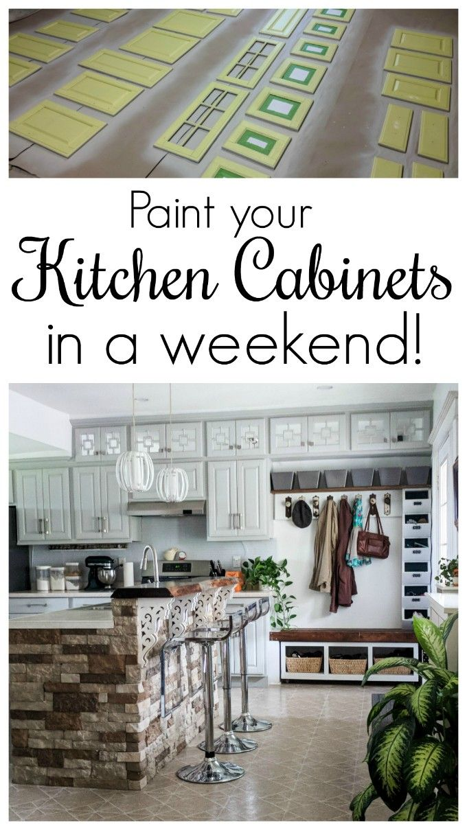 Painting Your Kitchen Cabinets In A Weekend Video Video Kitchen Diy Makeover Cheap Kitchen Makeover Kitchen Cabinets