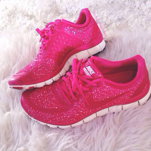 Life is not ONLY about heels.  Epic glitter running shoes.