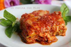 #ricetta #gialloblogs #enyoy Parmigiana di zucchine light in padella   In cucina con Mire