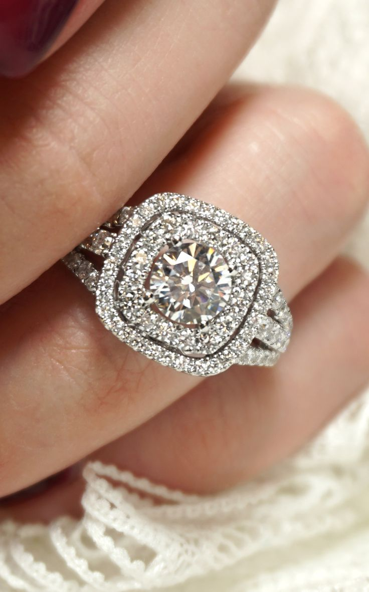 Custom Double Halo Diamond Engagement Ring  Joseph Jewelry  Bellevue   Seattle  Design Your