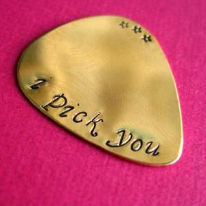 .Custom Guitars, Musicians, Guitar Picks, Hands Stamps, Grooms Gift, Gift Ideas, Guitar Players, Valentine Gift, Brass