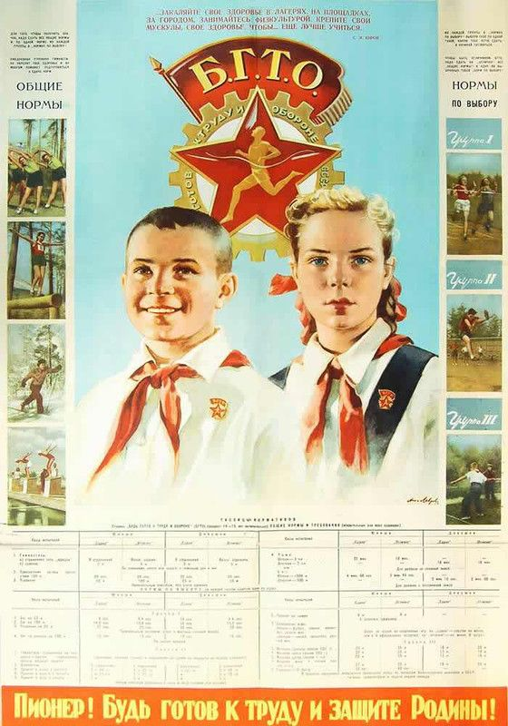 """Pioneer! Be ready for work and protection of Motherland!"" USSR poster"