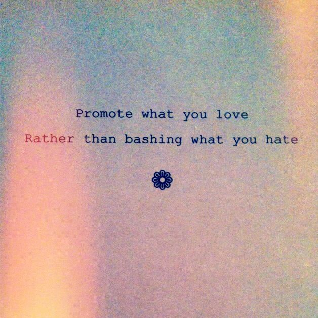 promote what you love...