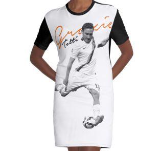 Graphic T-Shirt Dress Francesco Totti #tottiday #redbubble #tshirt #ASRoma #Italy #SerieA #Football #legend #allstar #masterpiece #player #francescototti