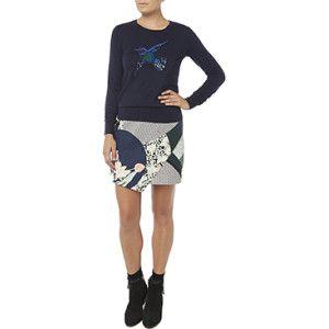 Marcs Oriental mini skirt inkmulti Size 14 Cotton in INKMULTI from Marcs.