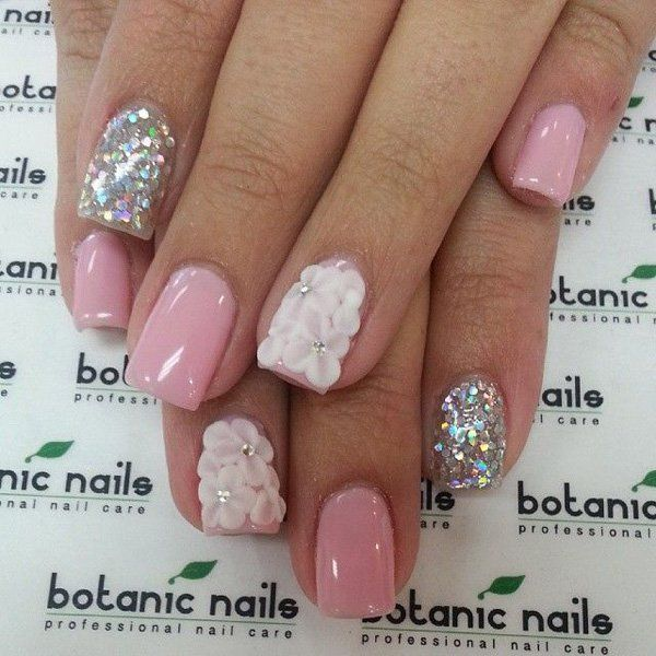 Best 25 flower nails ideas on pinterest daisy nails spring 3d flower nail art design for summer short nails nail art with glitter prinsesfo Image collections