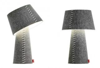 The lamps from Moree is designed in Nordic style and made of gray felt.  The lamps are available in several sizes.