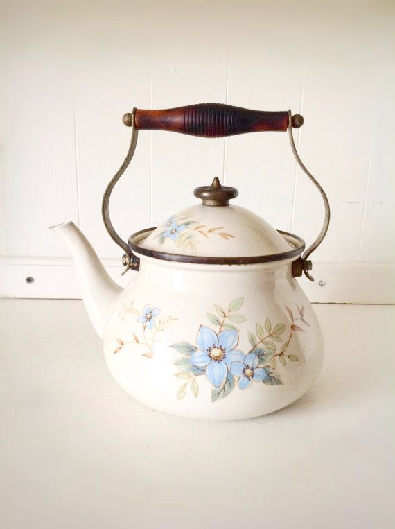Vintage Farmhouse Teapot|Vintage Tea Kettle|Vintage Serving|Mikasa Tea Kettle|Farmhouse Kitchen on Etsy, $25.00