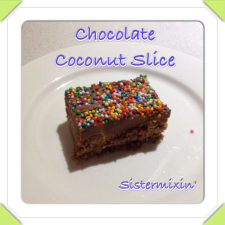 5 second chocolate coconut slice - Sistermixin' Thermomix