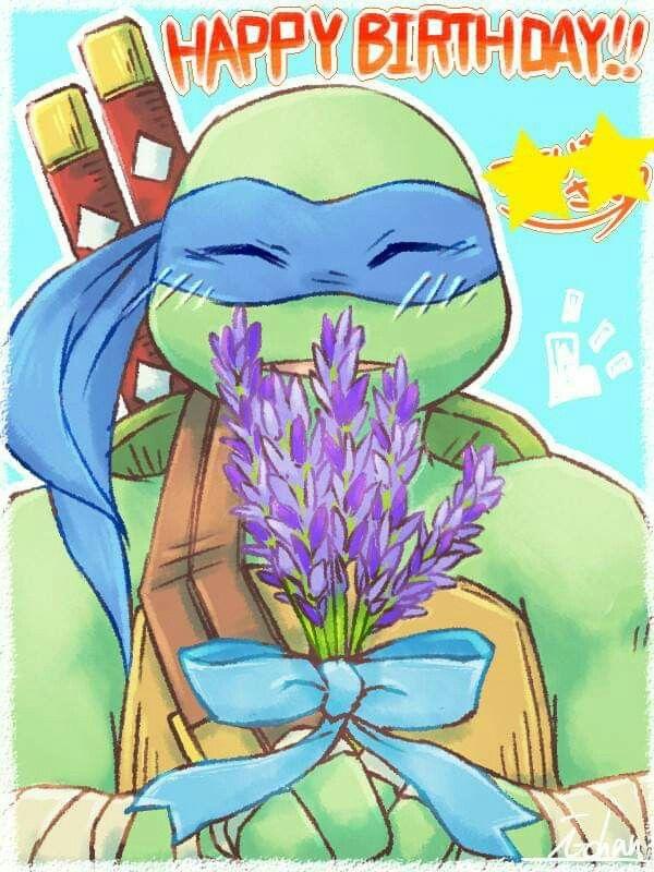 Happy Birthday Ninja Turtle Leonardo With Images Ninja Turtles