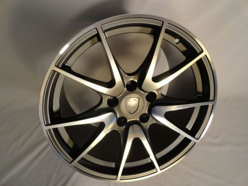 4-19-Staggered-Porsche-C2-911-996-997-Replica-Wheels-Rims-Mach-Gray-19x8-5-11