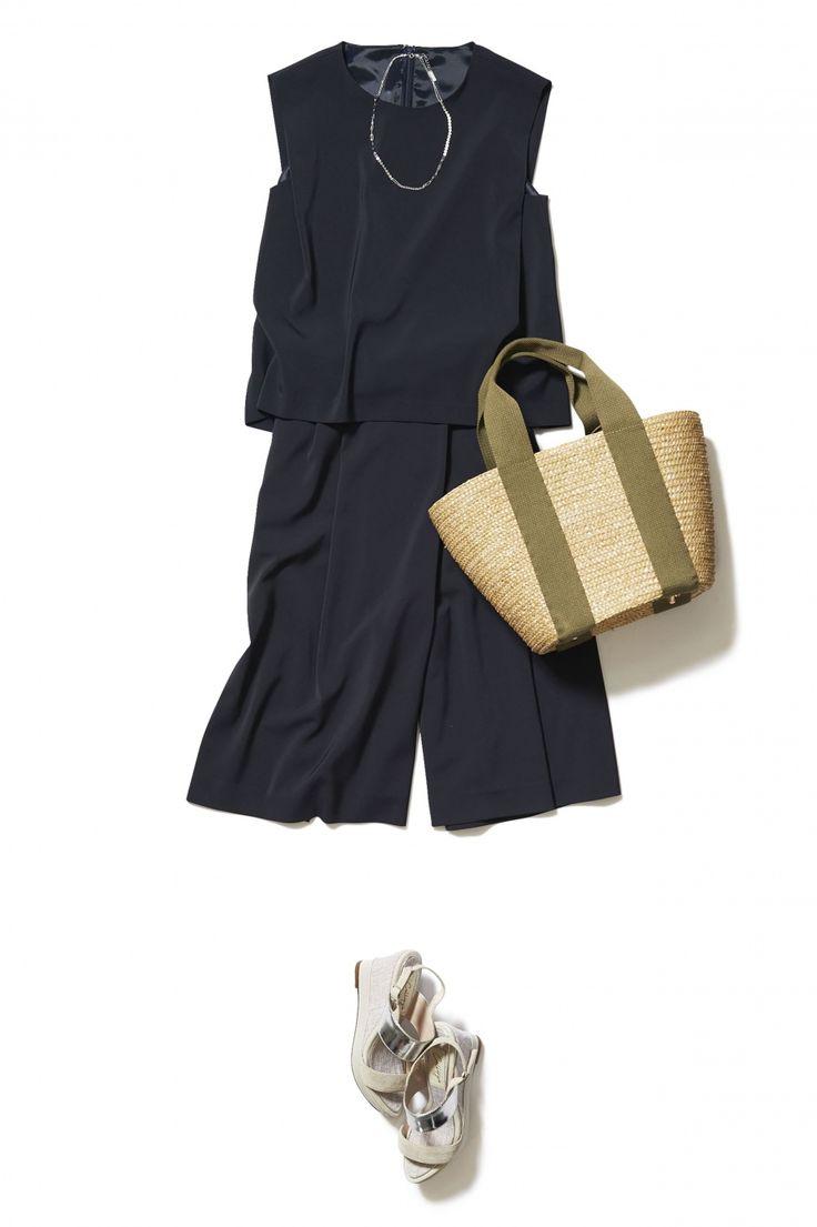 トレンドのネイビースカーチョでつくる!こなれ感のあるいい女スタイル ― B - ファッションコーディネート通販|ビストロ フラワーズ トウキョウ