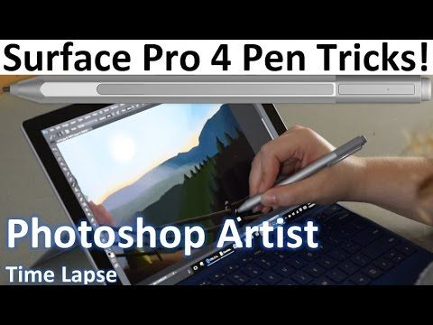 See an awesome painting created in Photoshop on the Surface Pro 4! In this video, I show the SP4 Pen in action! Some call it a digitizer and others call it a...