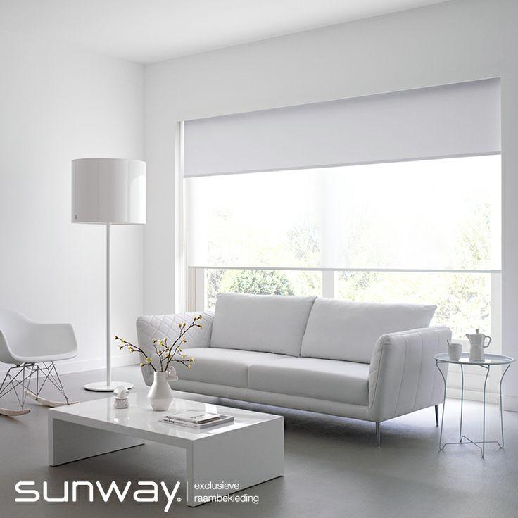 Rolgordijnen zijn mooi voor rechte ramen, maar in de SUNWAY collectie zitten ook modellen voor bijzondere toepassingen.