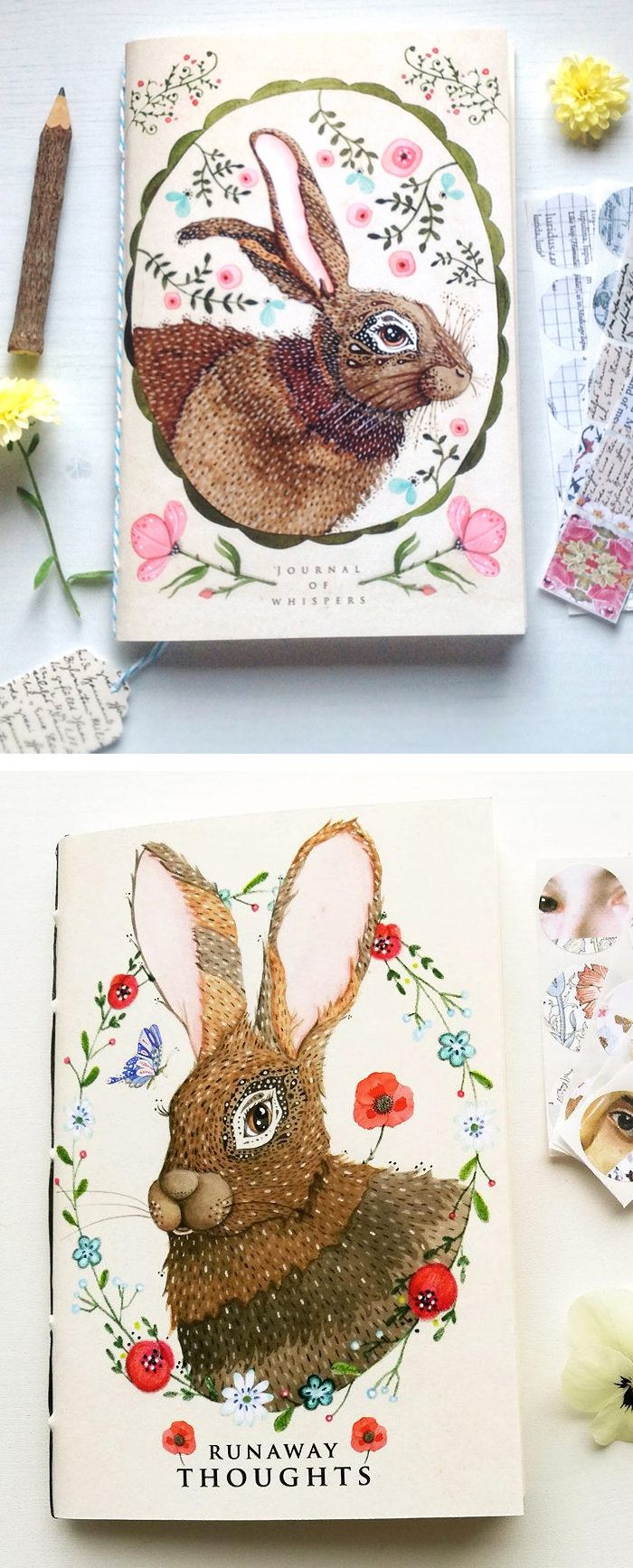 Art journals by Lily Moon // sketchbooks // beautiful notebooks // bullet journal
