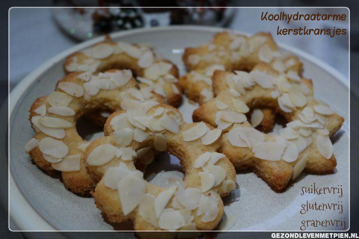Recept voor koolhydraatarme kerstkransjes. Deze kerstkoekjes zijn glutenvrij, granenvrij en natuurlijk suikervrij. Beleef zo gezonde en lekkere kerstdagen.