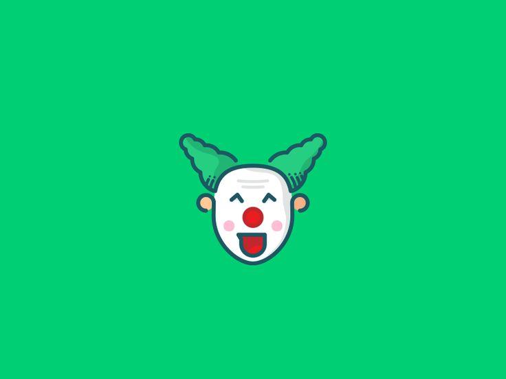Clown logo by koszetrawnik