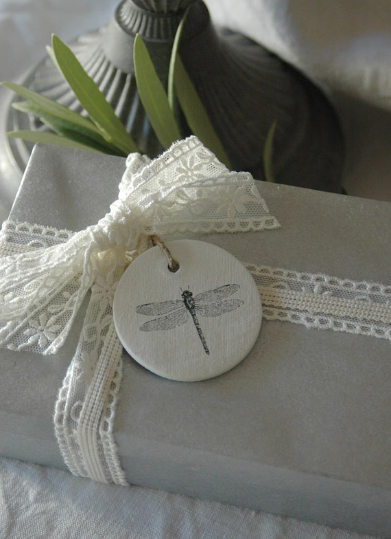 Dragonfly Clay Tag by Kerry Scott