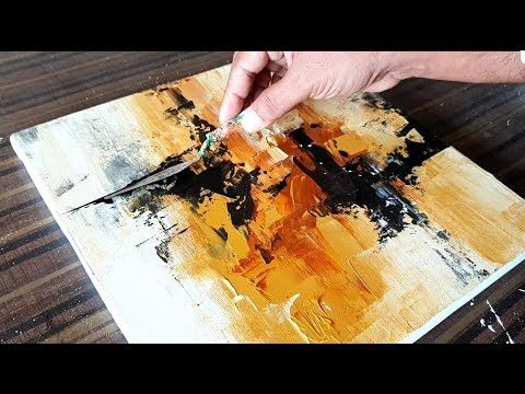 (29) Abstract Painting in Acrylic / Only with Spatula / Demonstration / Project 365 Days / Day # 075 – YouTube