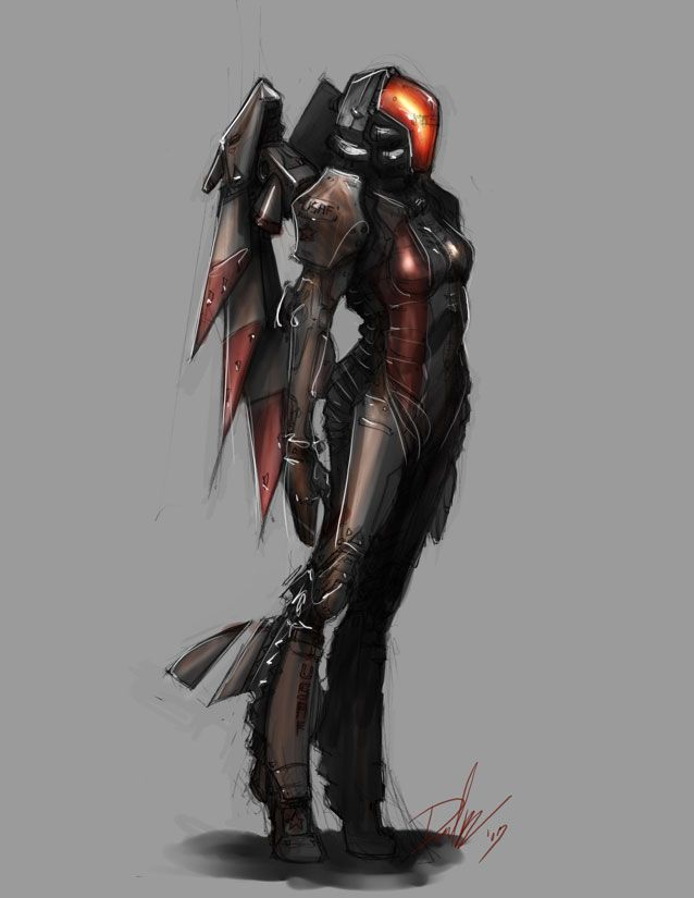 Game Character Concept Design : Valkyrie armor by dmboyledesign on deviantart anime