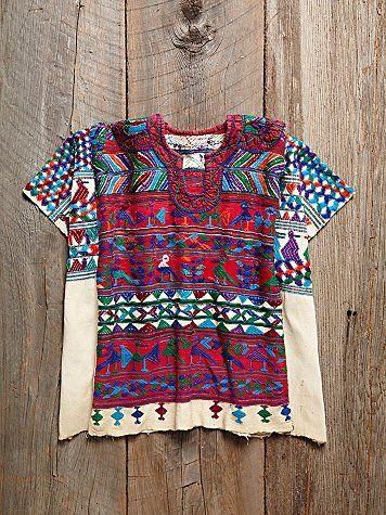 Free People Vintage Guatemalan Huipil