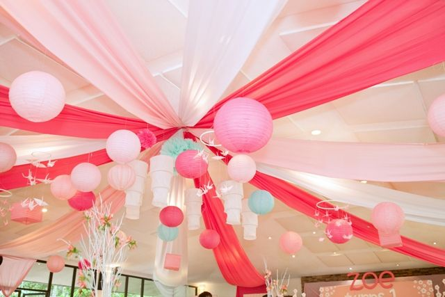 Zoe's Kokeshi Doll Themed Party – Ceiling Details