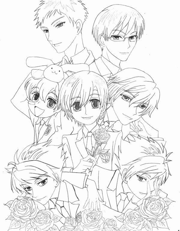 Ouran High School Host Club Anime Coloring Pages Printable Ideas Of Ouran High School Host Cl High School Host Club Ouran High School Host Club Host Club Anime