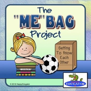 "A back to school All About Me Bag Activity is a great beginning of the year project that helps everyone get to know each other the first week of school. The activity includes letter to parents with calendar, assignment reminder sheets, and rubric. Includes an original ""me"" bag poem to paste on the About Me bag that students can read aloud and two writing sheets."