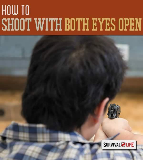 shooting with both eyes open, target shooting tips, how to shoot a gun, and handgun skills