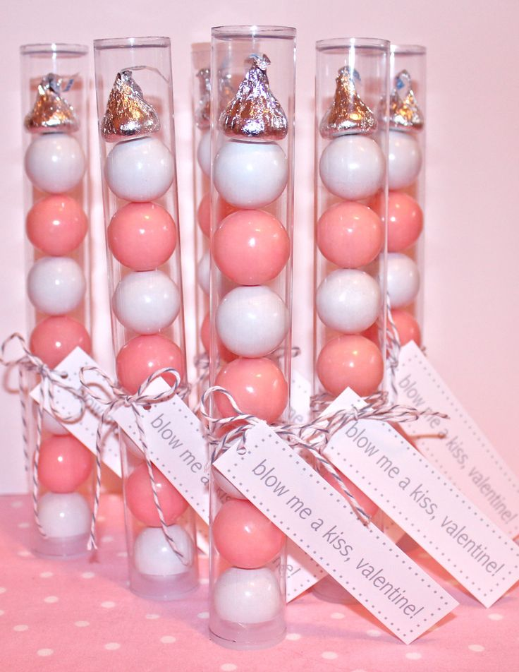 8 inch Plastic Candy Tubes with Tag- 20 empty tubes and lids. $22.00, via Etsy.