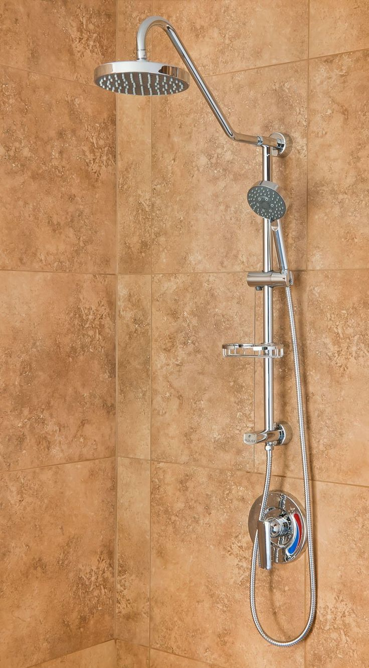 PULSE Showerspas 1011-CH Kauai III Retro-Fit Rain Shower System with Handshower and Adjustable Slide Bar, Chrome Finish - Shower Towers - Amazon.com