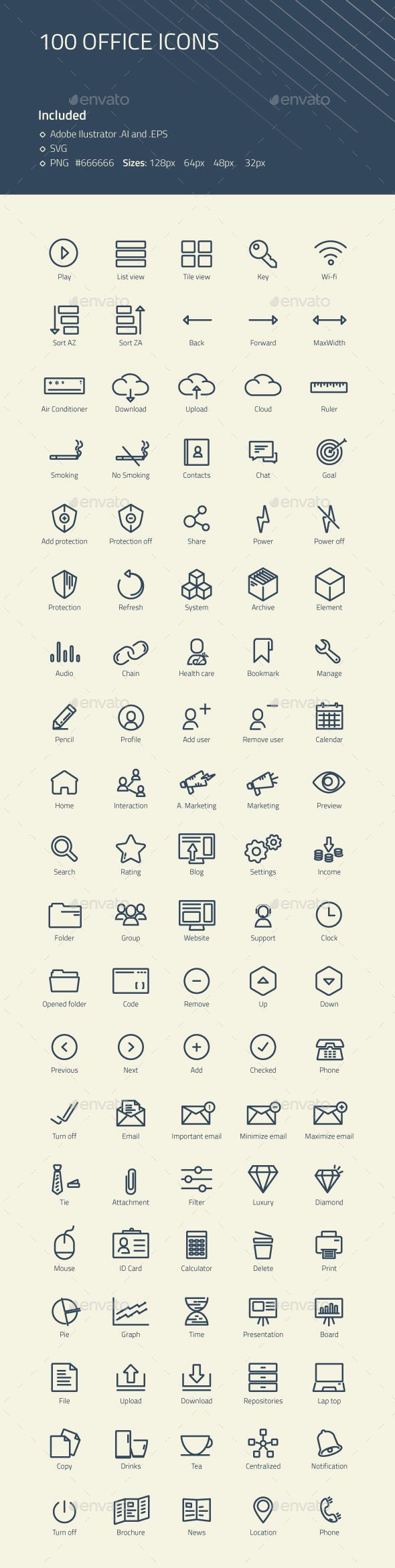 Modern Office #Icons - #Business Icons Download here: https://graphicriver.net/item/modern-office-icons/20304279?ref=alena994