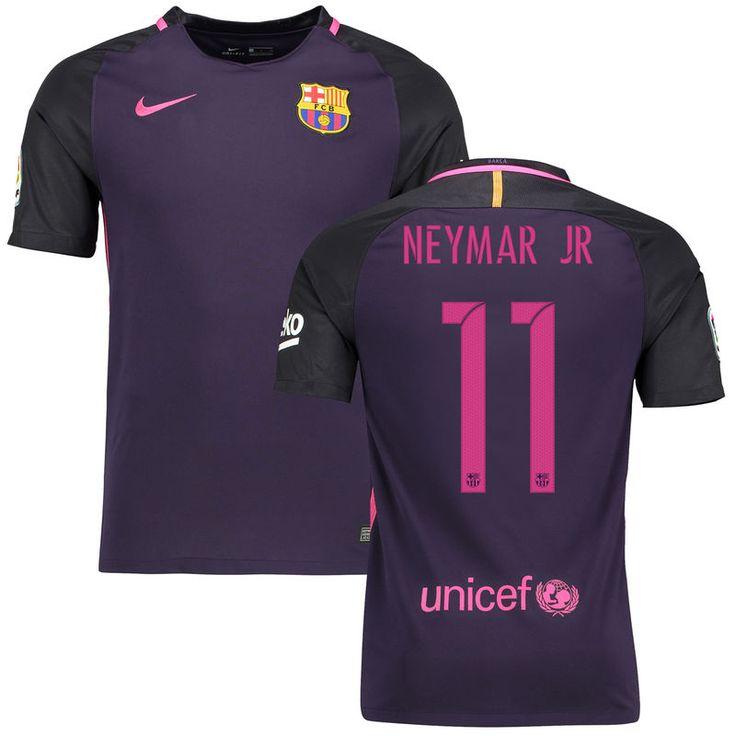 Neymar Santos Barcelona Nike 2016/17 Replica Away Jersey - Purple