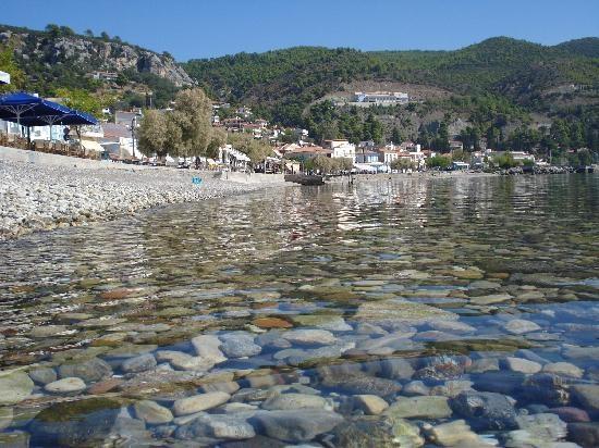 Rocky beach at Limni, Greece