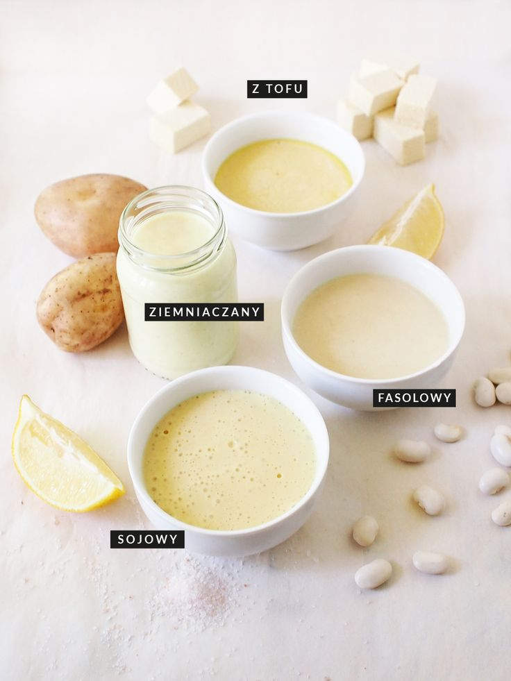 vegan / vegetable mayonnaise / 4 versions: soy, tofu, potatoes, white beans / gluten-free