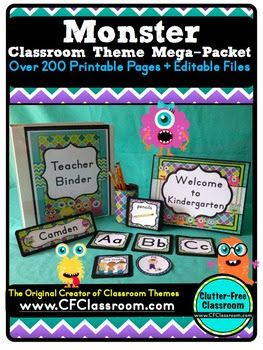 Clutter-Free Classroom: Monsters Themed Classroom - Ideas & Printable Classroom Decorations