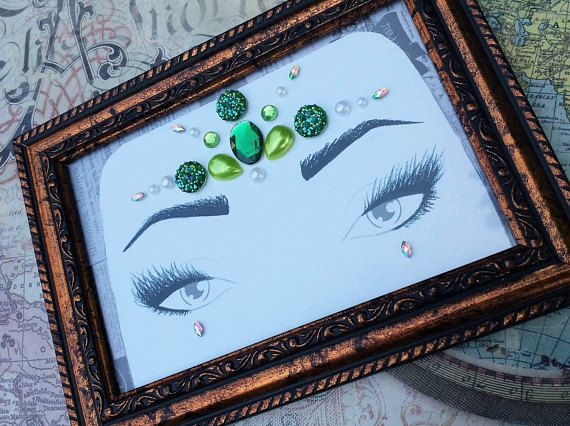 Face Gems, Face Jewels, Green Face Gems, Mermaid Costume, Mermaid Jewels, Rave Accessories, Festival Wear, Loose Face Gems - 00328