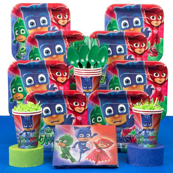PJ Masks Deluxe Birthday Kit (serves 8)