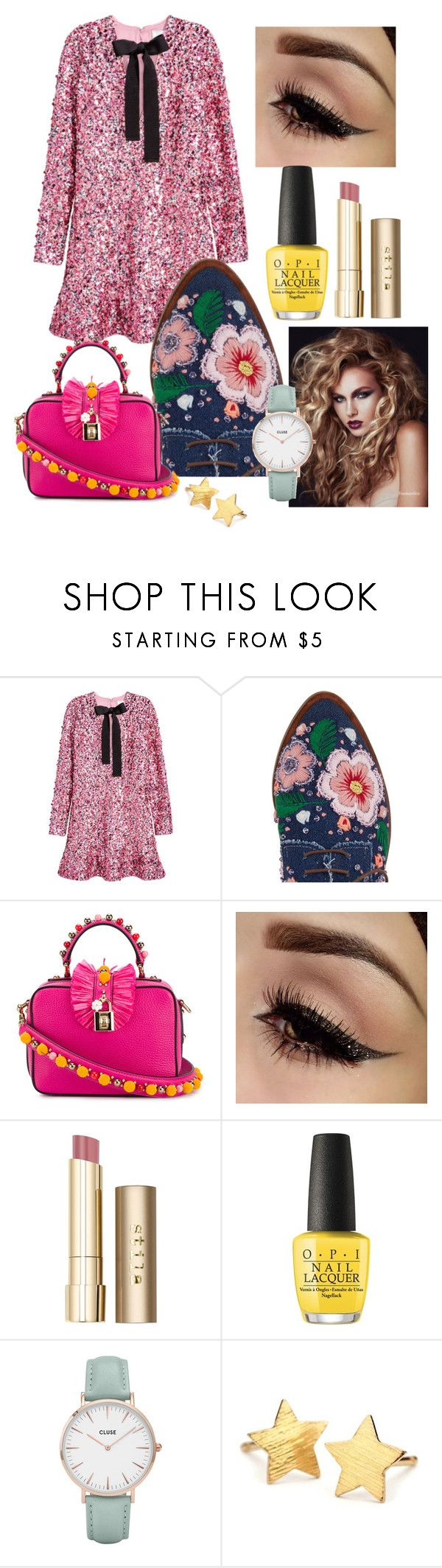 """""""Betsy"""" by jolilollie on Polyvore featuring H&M, Anouki, Dolce&Gabbana, Stila, OPI, CLUSE and Pernille Corydon"""