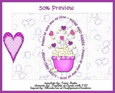 valentine candy bar wrapper templates - valentine 39 s day popcorn wrapper wrappers and toppers