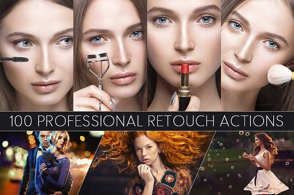 100 Professional Retouch Actions by Professional Add-Ons on @creativemarket