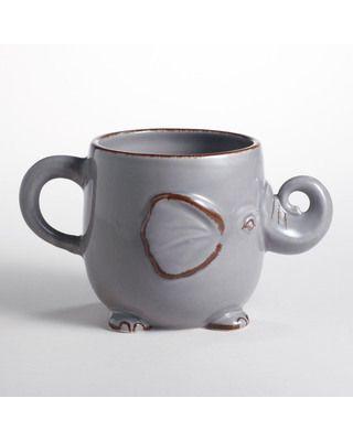 Mornings are better with an elephant mug! Get it here: http://www.bhg.com/shop/world-market-gray-elephant-mug-p509cd0dbe4b0a57d1880eb88.html?mz=a