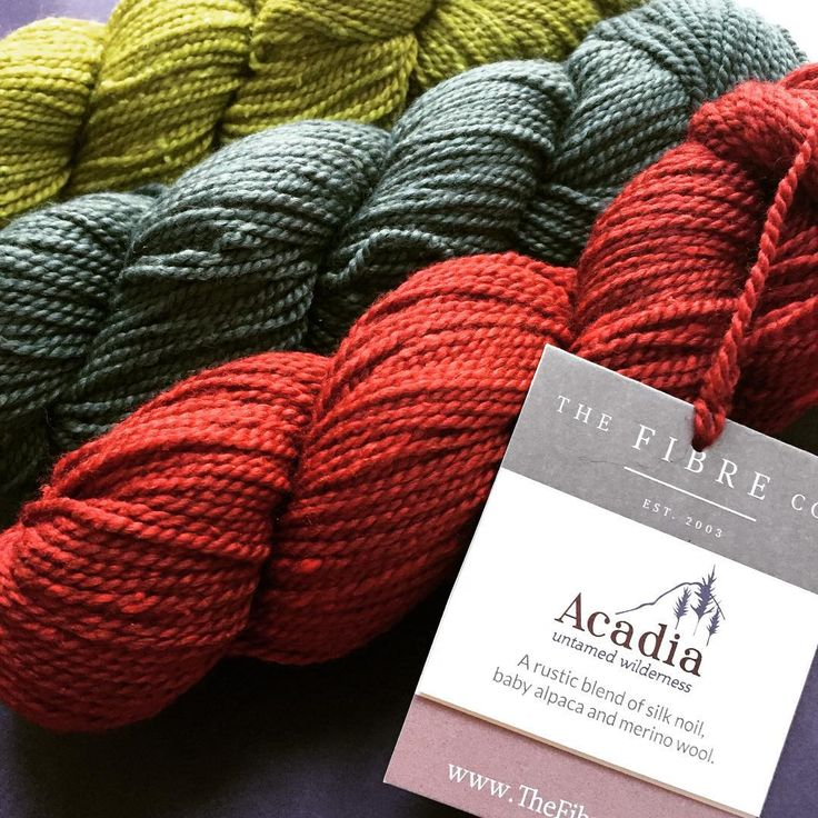 I'm in love with this colour combo of Acadia, ordered by one customer today! #tangledyarnuk #acadia #thefibrecompany #knitting #yarnlove
