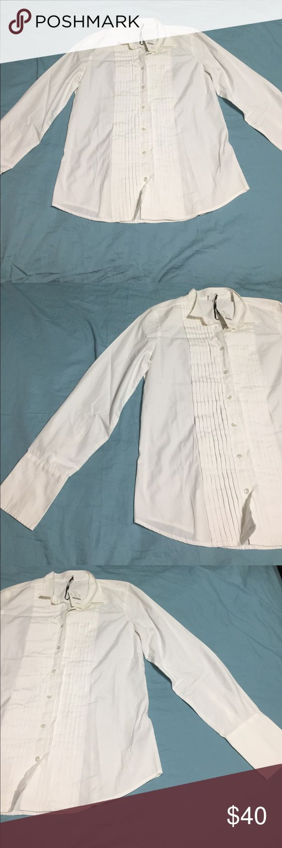 J Crew Shirt Tuxedo Style Cute shirt from J Crew new with tags never worn extra button still attached J. Crew Tops Blouses