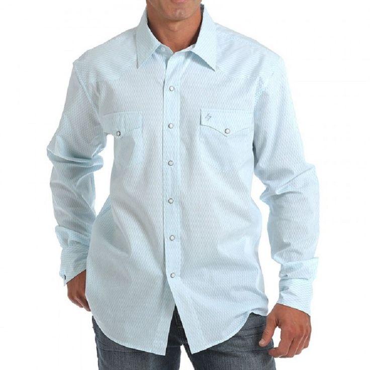 Garth Brooks Sevens by Cinch Light Blue Tonal Print Shirt