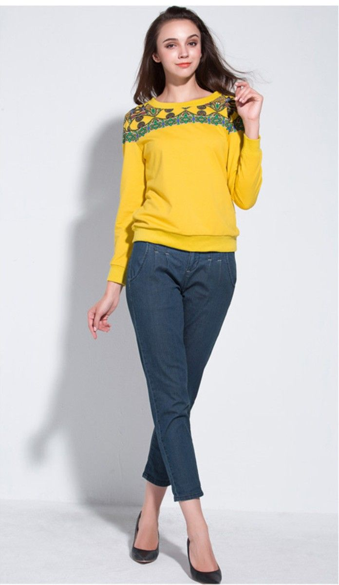 Plus-Size-Yellow-Sweaters-
