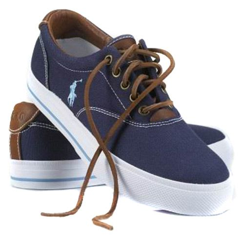 Polo Ralph Lauren Mens Vaughn Canvas Sneaker Dark Blue