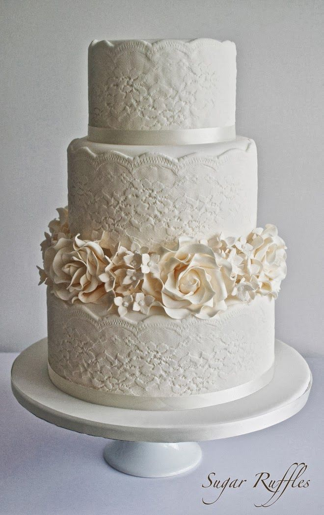 Gorgeous Lace Wedding Cakes Wedding Cakes And Beyond Wedding