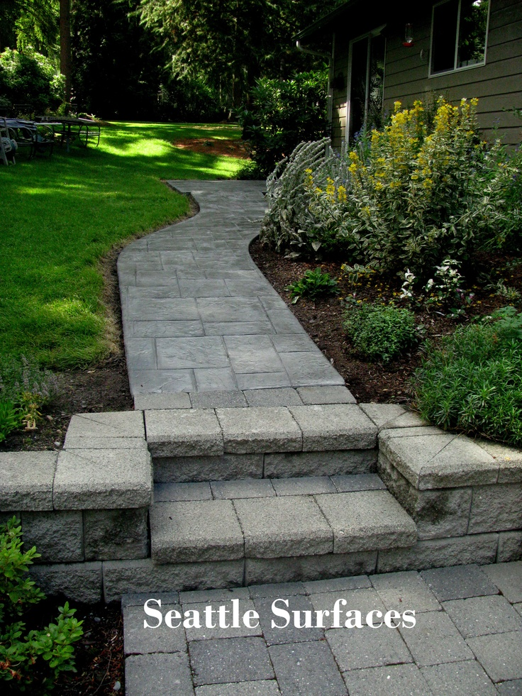 1000 images about concrete overlays on pinterest office for Removing concrete walkway